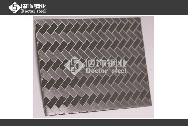 厂家不锈钢蚀刻加工,304不锈钢拉丝蚀刻波浪纹不锈钢蚀刻板