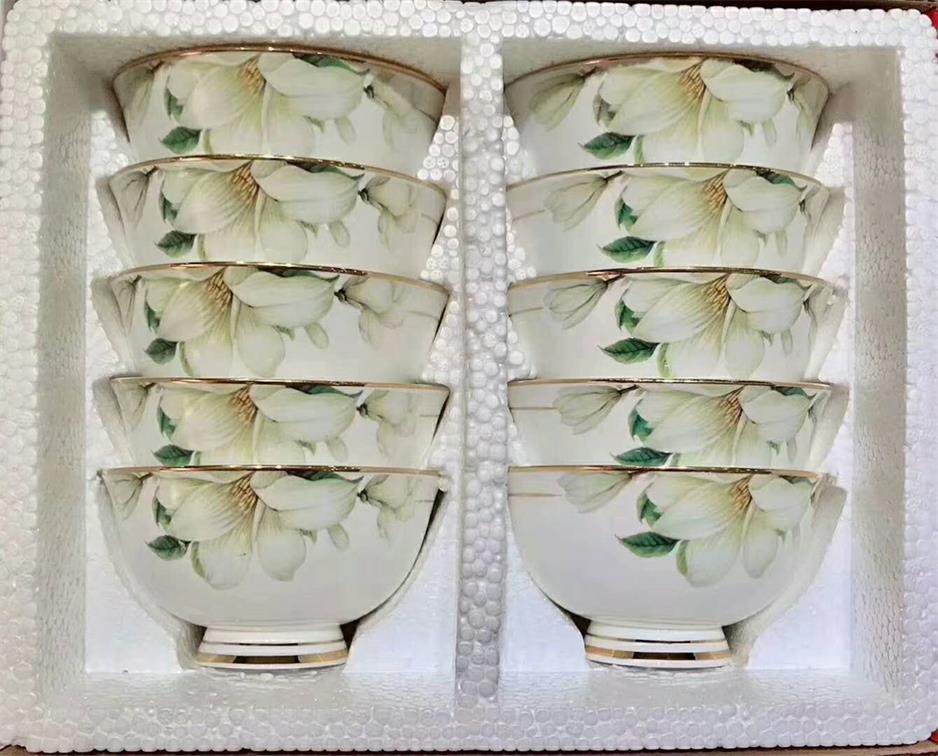 陶瓷饭碗套装餐具厂家定制批发婚庆礼品陶瓷城餐具高档礼品餐具乔迁礼品瓷