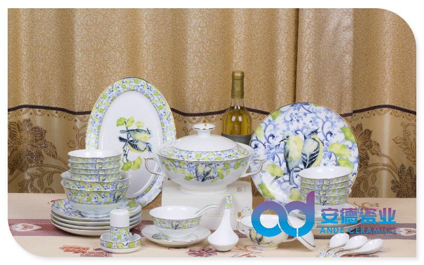 开业庆典礼品陶瓷餐具厂家定制批发正品陶瓷餐具描金陶瓷餐具青花陶瓷餐具