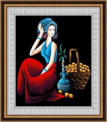 唐韵风情钻石画 深受国外友人宠爱和追捧