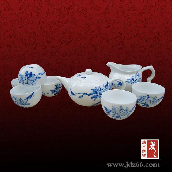 景德镇陶瓷茶具套装 功夫茶具厂家定做陶瓷礼品茶具手绘陶瓷茶具青花瓷茶具