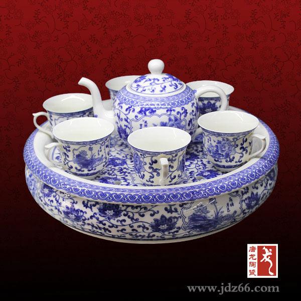 私人定制陶瓷茶具 高温瓷器生产厂家陶瓷礼品茶具手绘陶瓷茶具青花瓷茶具
