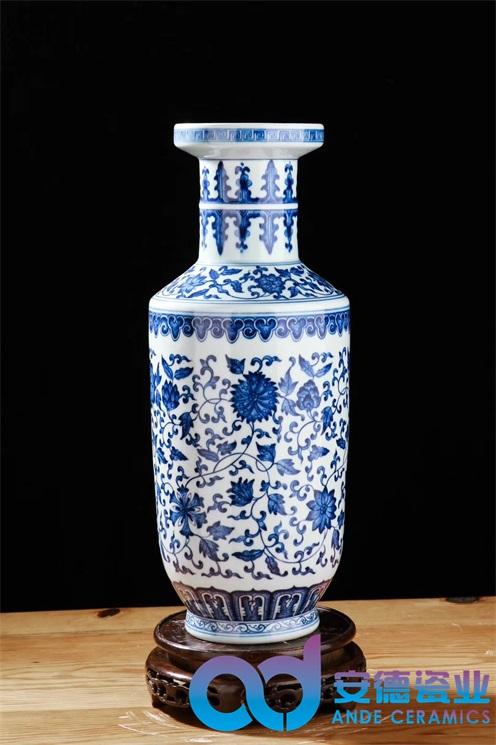 景德镇青花瓷瓶  景德镇陶瓷花瓶 装饰小花瓶 摆件花瓶青花陶瓷花瓶