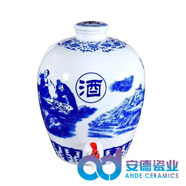 景德镇陶瓷酒瓶 陶瓷颜色釉酒瓶定制酒瓶批发酒瓶厂家