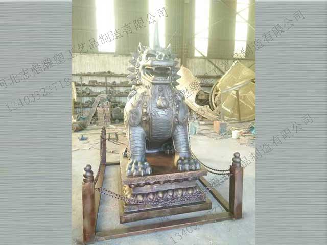 铜马雕塑_动物雕塑设计制作_志彪铜雕