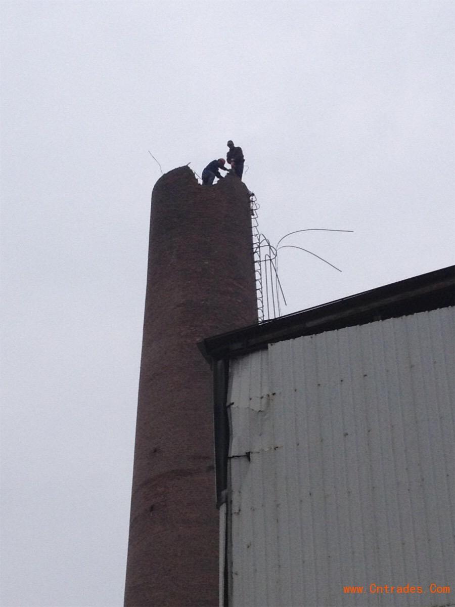 蘭州專業人工拆除大煙囪-歡迎訪問